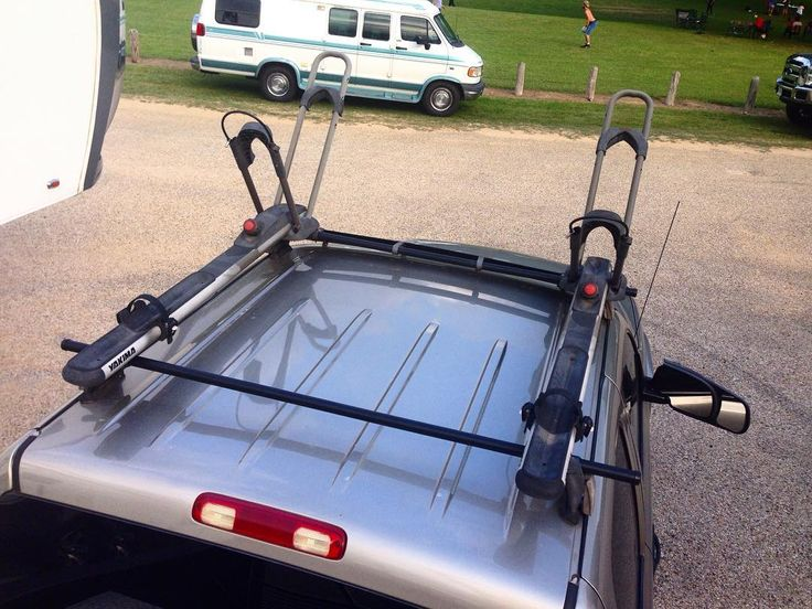 For Sale   #Yakima 2 Bike Roof Rack System Setup For 2002 Chevy Crew Cab