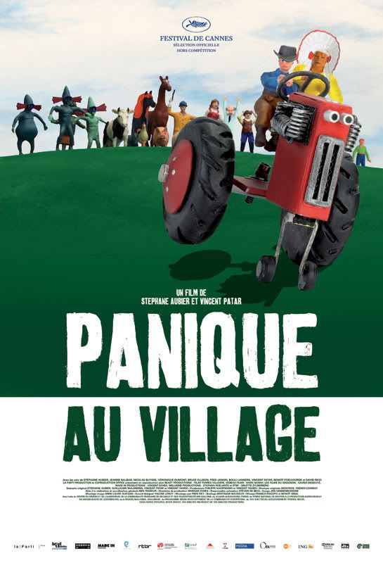 Panique au village (A Town Called Panic)  This is a delightfully absurd and silly stop-animation film.