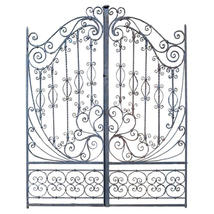 19th C. Hand Forged Iron Gates