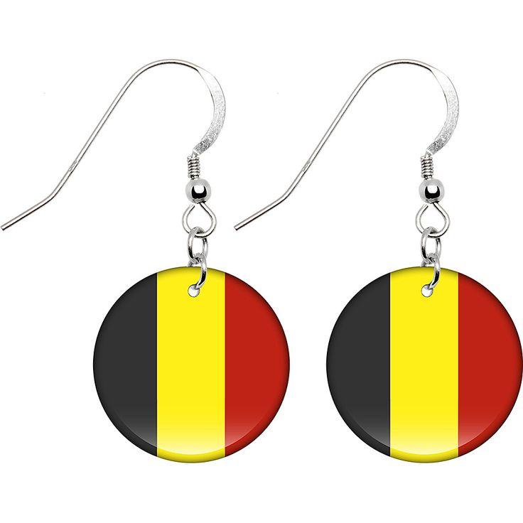Belgium Flag Earrings