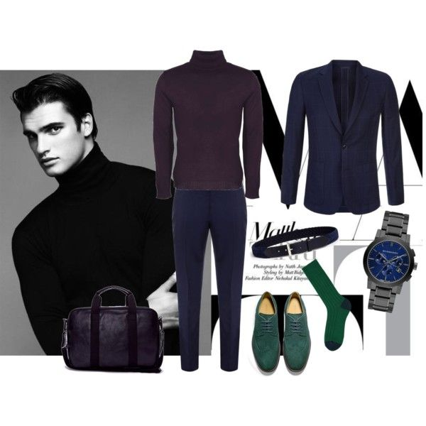 Business casual by asya-gorelkina on Polyvore featuring мода, Matt & Nat, Burberry, Alexander McQueen, Paul Smith, Isaia, Cole Haan, Boohoo and Uniqlo