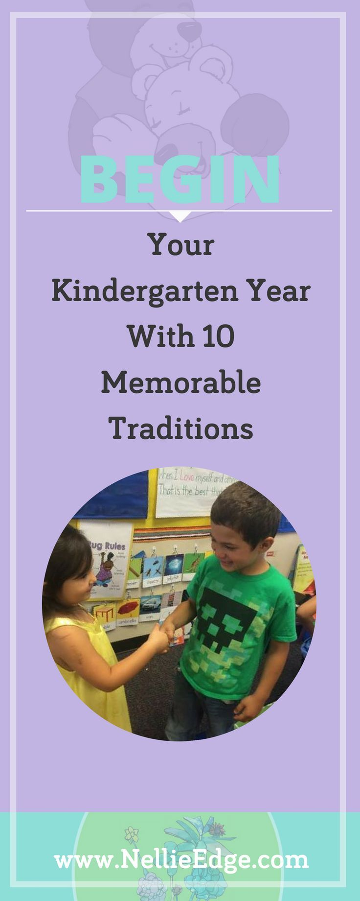 Begin Your Kindergarten Year with 10 Memorable Traditions: How can you create beginning-of-the-year rituals and traditions that build community and enhance literacy? Learn about ideas for settling-in time, favorite songs, and more. Establishing ELA Common Core standards for kindergarten students' back-to-school learning is enhanced thru positive discipline and the social-emotional climate you create. Learn more at http://nellieedge.com/weekly-focus/begin-year-memorable-rituals/ | New…
