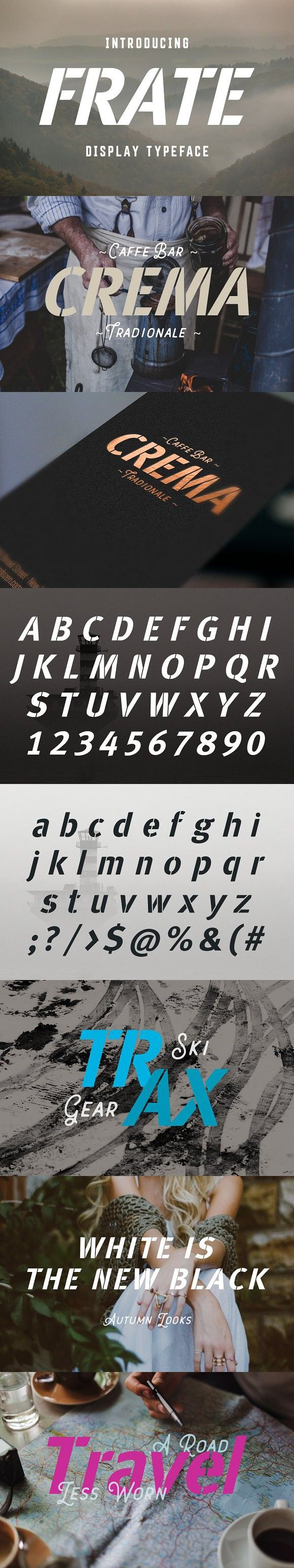 Frate Typeface. Display Fonts