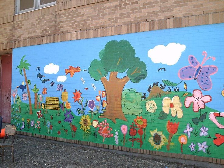 School mural project school beautification pinterest for Mural school