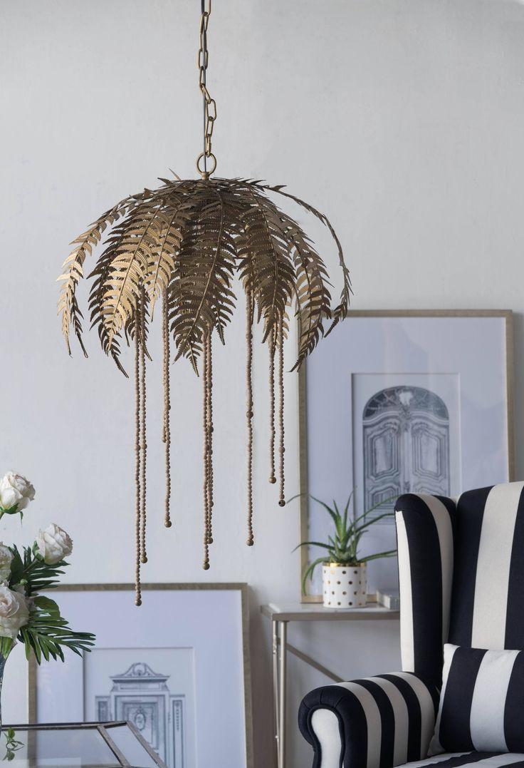Gold Palm Leaf Chandelier - Pre Order! from Olive and Sage