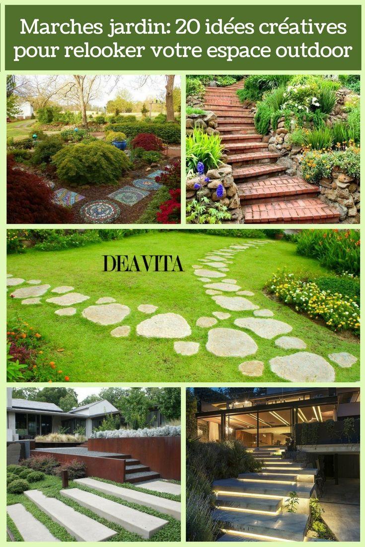 Marches Jardin 20 Idees Creatives Pour Relooker Votre Espace Outdoor Garden Backyard Outdoor Decor
