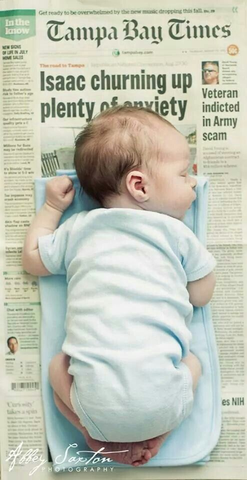 Take a picture of your newborn on a newspaper the day of it was born....I wish I would have done this!