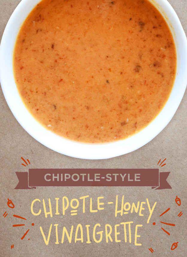 Chipotle-style honey vinaigrette dressing