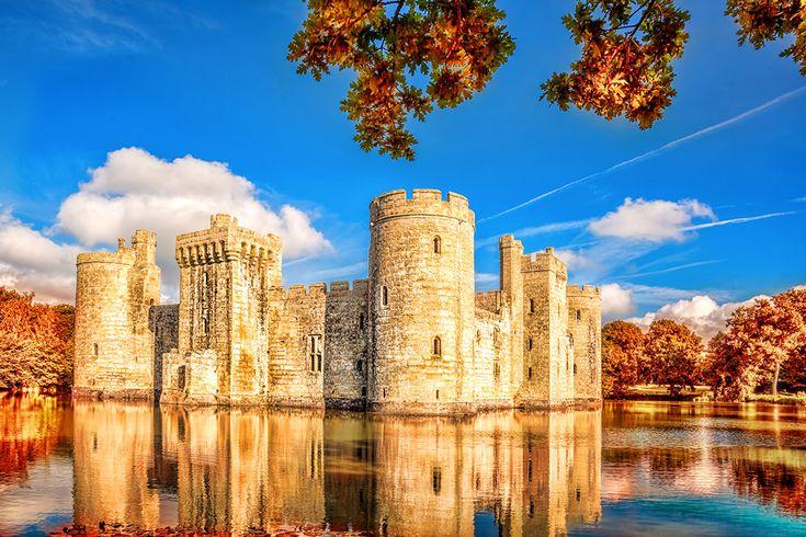 Bodiam Castle i England #bodiam #castle #bodiamcastle #england #slott