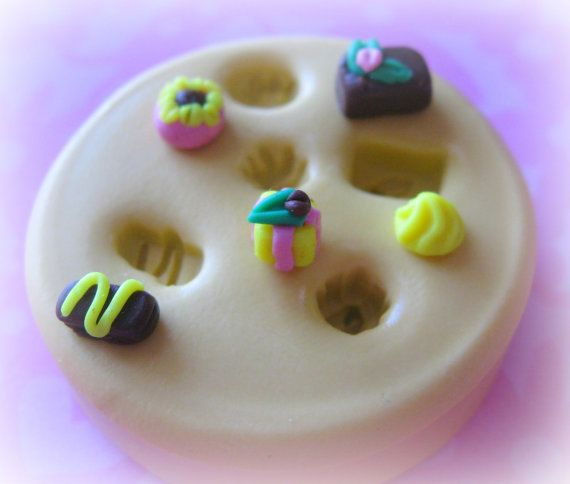 Tiny Scale Dollhouse Candy Mold Silicone Polymer by WhysperFairy