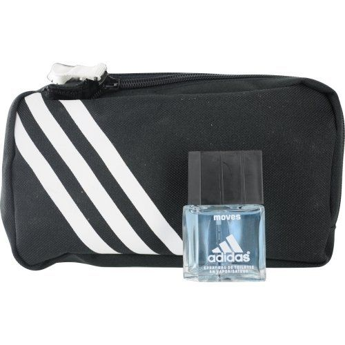 ADIDAS MOVES by Adidas Cologne Gift Set for Men (EDT SPRAY .5 OZ & TOILETRY BAG) by adidas. $17.82. Year Introduced: 1999. 100 % Genuine Fragrance.. Concentration: Eau De Toilette. Recommended Use: daytime. Size: -. 100% Authentic ADIDAS MOVES by Adidas Cologne Gift Set for Men (EDT SPRAY .5 OZ & TOILETRY BAG). Manufactured by the design house of Adidas. ADIDAS MOVES for MEN possesses a blend of jasmine, black pepper, clove, spicy notes. This product was released in 1999. It i...