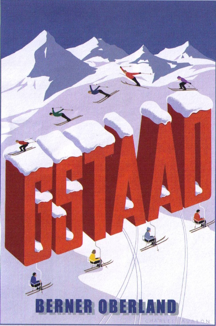 Gstaad. Berner Oberland. Switzerland. By ?, year?