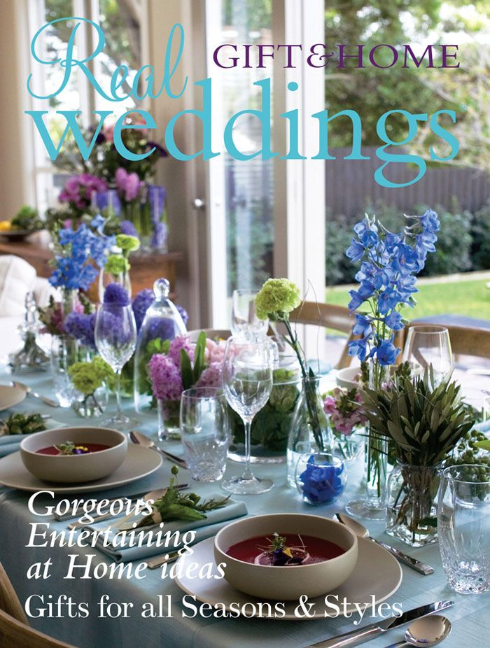Real Weddings - Issue 19; gift and home flip