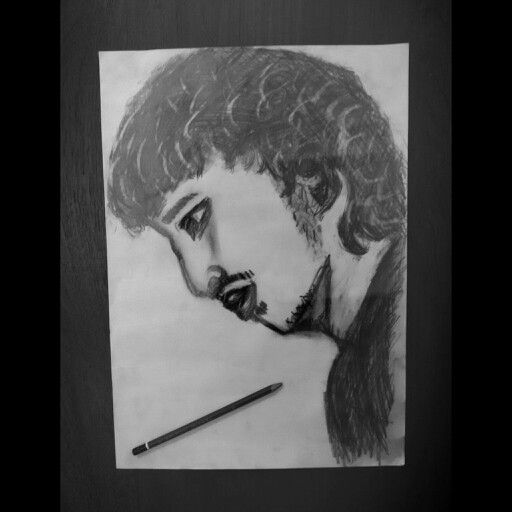 Pencil sketch freehand