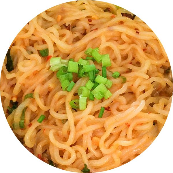 Zero Calorie Shirataki Noodles in a spicy, flavorful, magic sauce. (for low carb replace sugar with sugar substitute of choice)