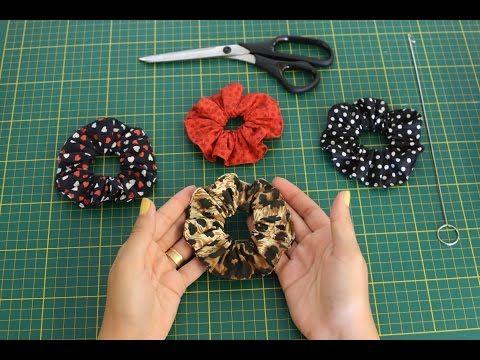 Como fazer uma Xuxinha - Prendedor de Cabelo - Scrunchie Tutorial - YouTube