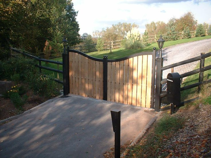 28 best images about wooden driveway gates on pinterest - 28 inch exterior steel door for sale ...