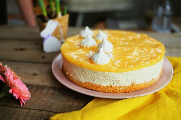 Citromos túró mousse torta