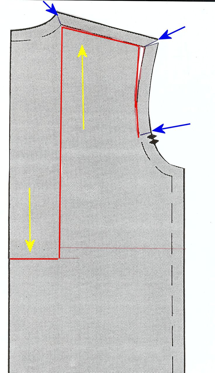 sway back alteration - my go-to alteration for shirt, tee or jersey dress. no waist- or back-seam required! Only alteration: Í end with cutting at the shoulder/armhole because of my narrow shoulders