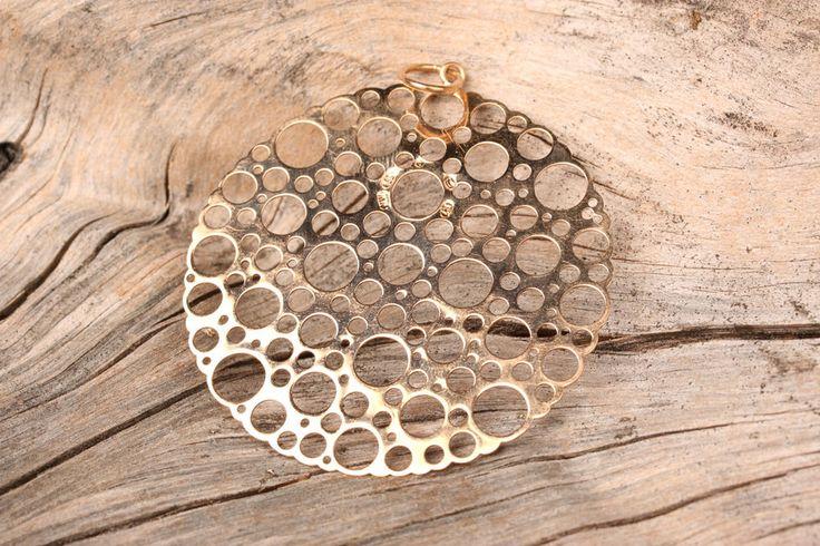 Rare Vtg 70s Liisa Vitali Large Gold Pitsi Lace Pendant #LiisaVitali #Pendant