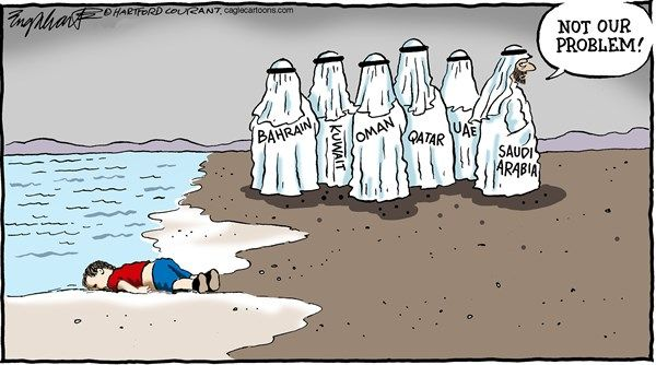 Syrian refugees problem