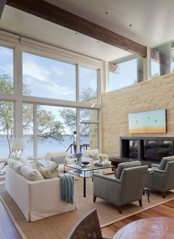 Grande Baie vitrée PVC Blanc mur intégral Bormes les mimosas 83230