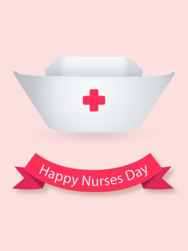 Happy Nurse Day Nurse Hat Card: A classic nurse's hat reminds us that even if hospital styles have changed, the compassionate hearts of nurses remain the same. Know a great nurse? Let him or her know how valuable they are. Send a Happy Nurses Day card to express your appreciation and to recognize their hard work. This simple, red Nurses Day greeting card is thoughtful and meaningful-don't wait to send it to all the nurses you know.