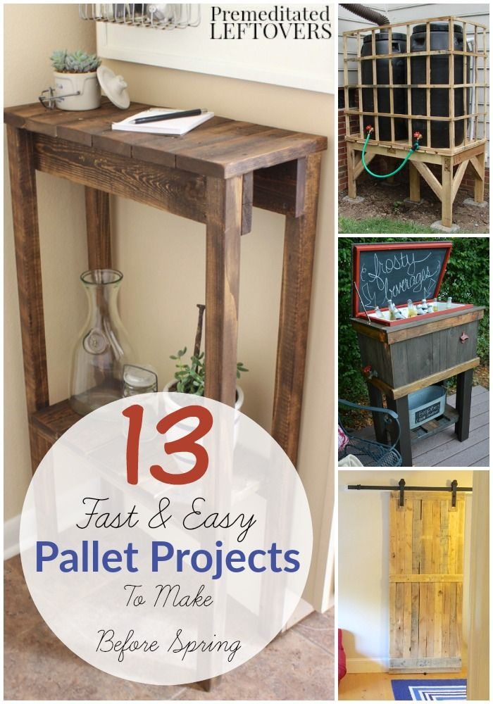 13 Easy DIY Pallet Projects 168 best