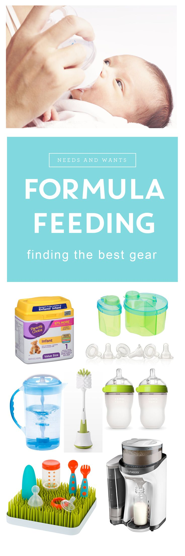 #sponsored by #ParentsChoice The best gear for formula feeding a newborn. Handy tips, schedules, and charts to help guide you through those first days with your baby. via @pregnantchicken