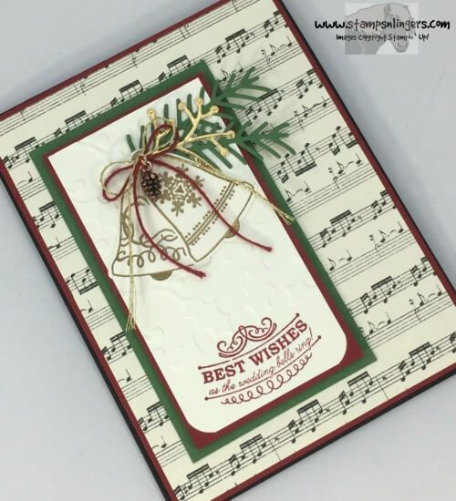 christmas card using seasonal bells | Stampin' Up! Seasonal Bells Christmas Wedding | Stamps – n ...