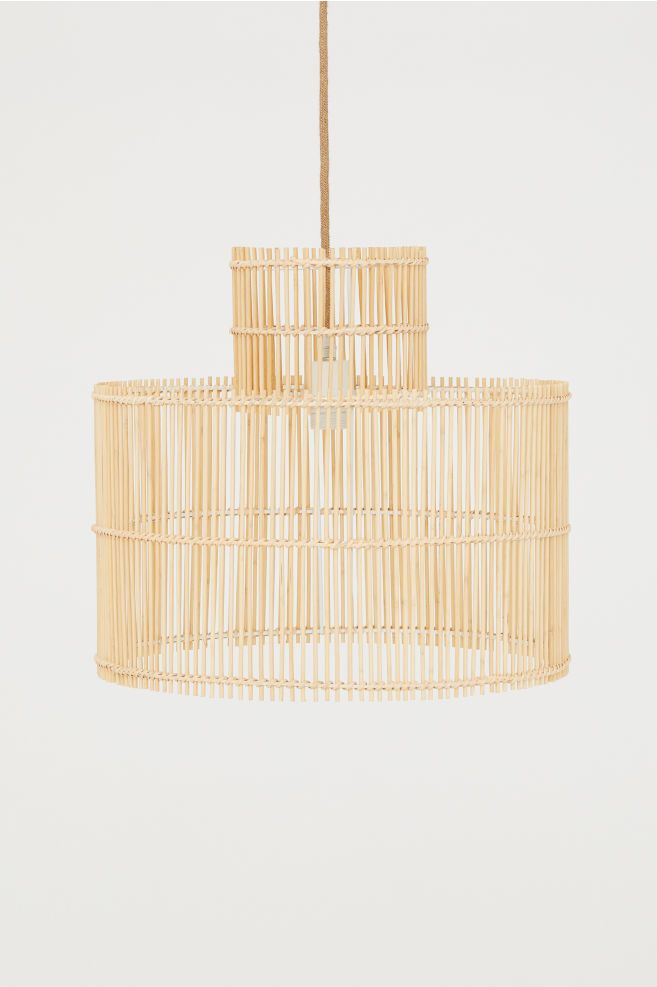 Bamboo pendant light Black | H&M GB | Hängande lampa