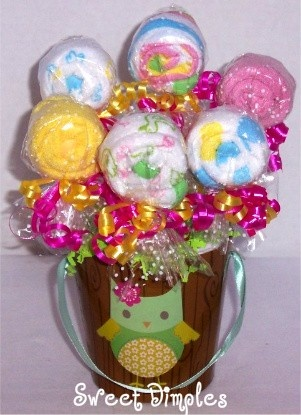 lollipop pail with diapers inside