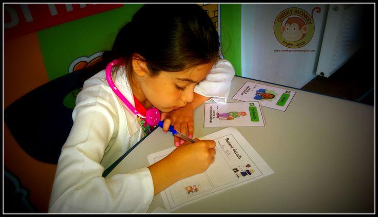 In the Hospital Role-play...#CME4K Sadece çocuklar (Okul Oncesi - Ilkokul - Ortaokul) için İngilizce dil kursu İzmir