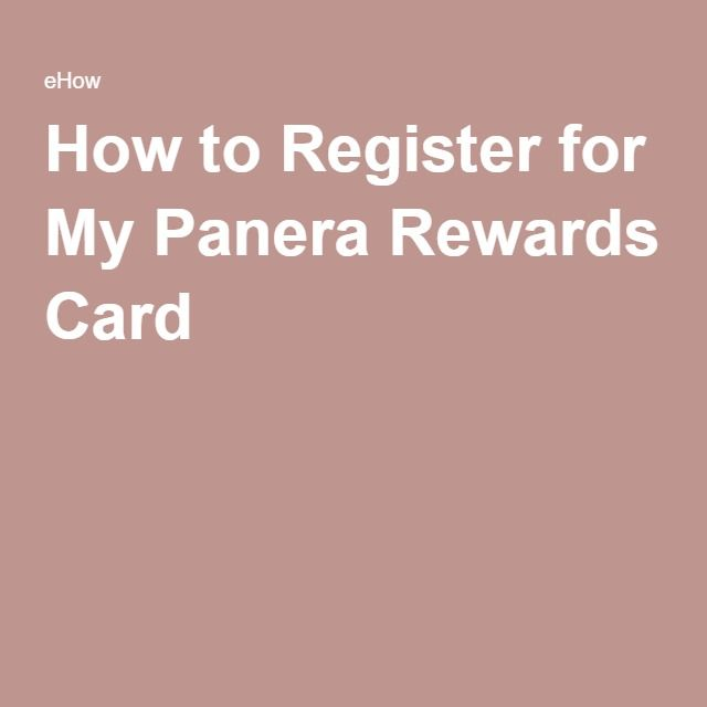 How To Register For My Panera Rewards Card Reg Code 8393
