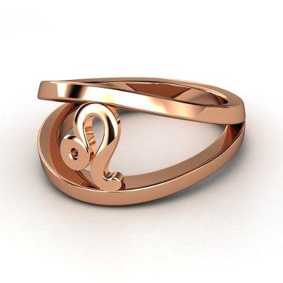 so cool. leo zodiac ring in rose gold    14K Rose Gold Ring  | Leo Zodiac Ring | Gemvara