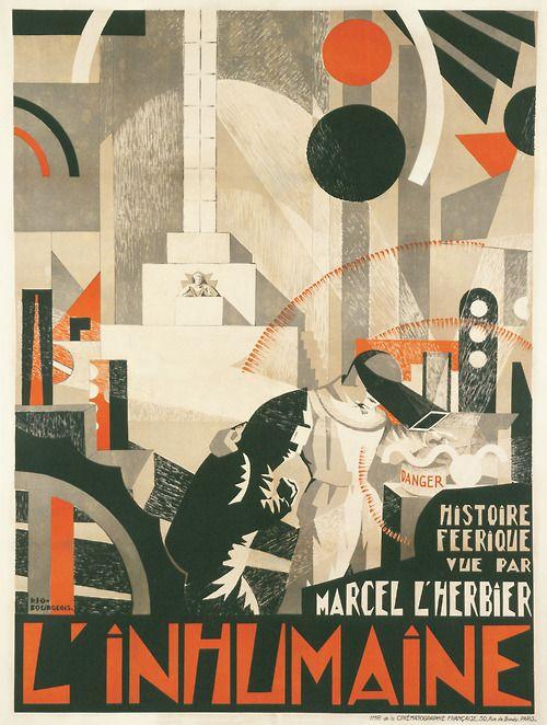 """Fernand Léger, El remolcador, 1922 #vinculamuseo Cartel del film de Marcel L' Herbier,  """"La inhumana"""" de 1923, para el que el pintor cubista Fernand Léger, crea la escenografía, #diainternacionaldelosmuseos2014"""