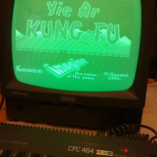 You'd like this one by c_r_o_f_t #amstrad #microhobbit (o) http://ift.tt/1oTAixW needs next-gen when you have Yie Ar Kung-Fu on the Amstrad CPC 464! #RetroGaming #YieArKungFu #Amstrad #Konami #VideoGameAddict #RetroGame