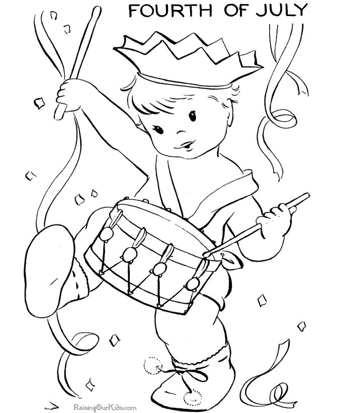 Childhood Celebration In The Of July Coloring Pages For Kids Printable