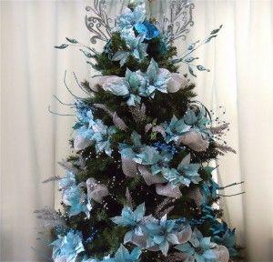 12 best como decorar un arbol de navidad azul plata y - Como decorar un arbol de navidad azul ...