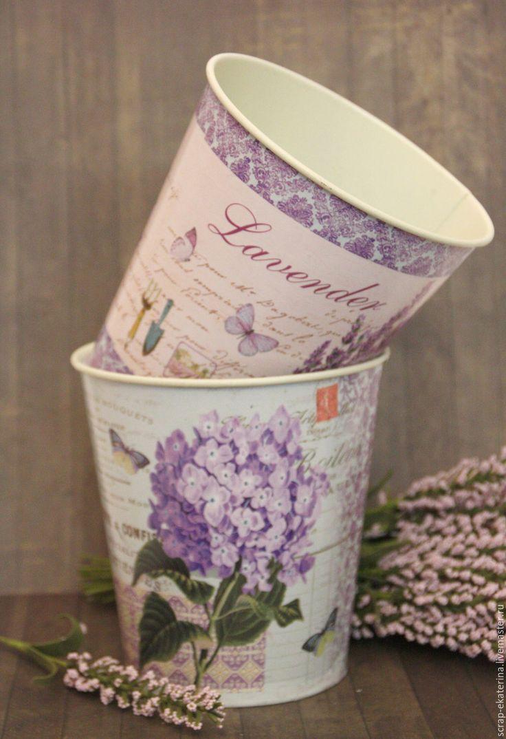 Купить Кашпо (металлическое). Горшок цветочный - бежевый, кашпо, кашпо для цветов, флористика, для флористики, прованс