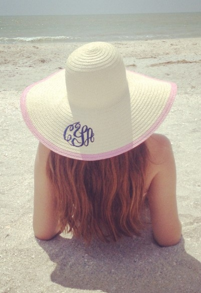 Marley Lilly Monogrammed sunhat.