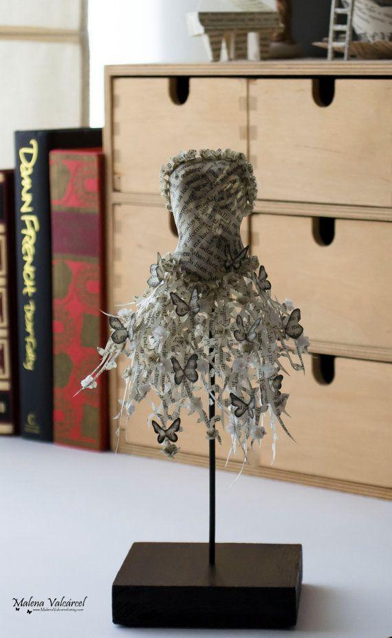 Vestido de Papel cuento de hadas - Escultura de Papel - Vestido Miniatura de…