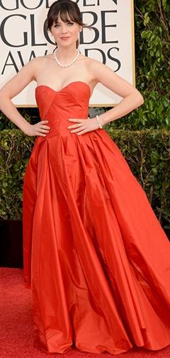 Zoey Dechanel in Oscar de la Renta
