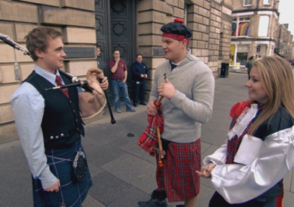 'Will I understand people if they speak Scottish?' That came from an English person....