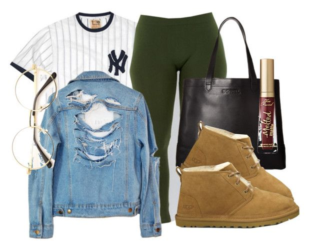 """Untitled #121"" by trillqueen34 ❤ liked on Polyvore featuring Red Jacket, High Heels Suicide, SOREL, UGG Australia and Too Faced Cosmetics"