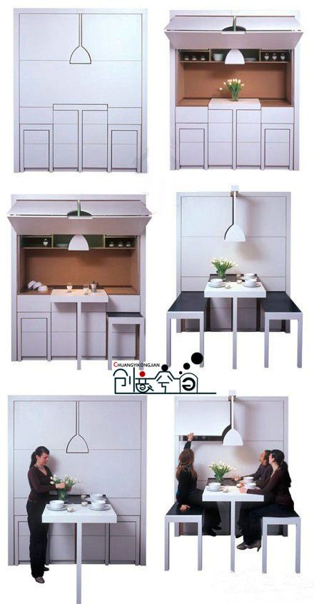 Wow a kitchen in a box, who wouldn't want one of these in their home need it or not. A great space saver in a cabinet. Comes with everything you could need for a small kitchen
