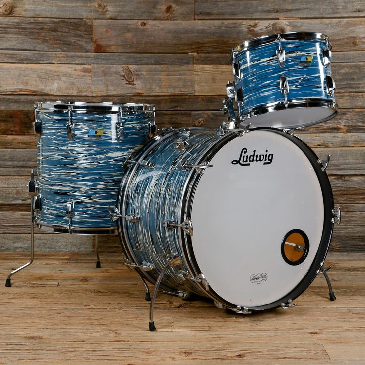 Ludwig Super Classic 13/16/22 3pc Drum Kit Blue Oyster 70s USED