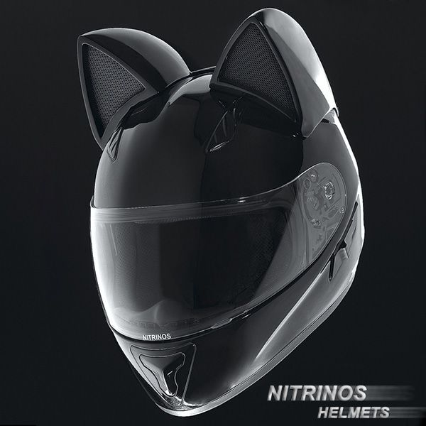 Cat Motorcycle Helmets With Ears http://geekxgirls.com/article.php?ID=6456