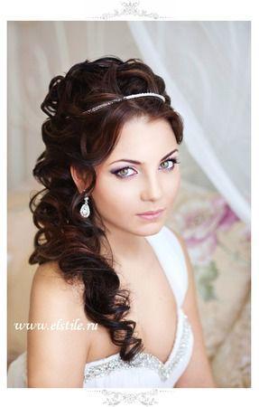 Wedding hair ideas for long hair. Since I've decided to grow my hair out. #wedding #hair