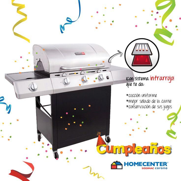 Prepara las mejores comidas con este espectacular asador a gas a tan solo $799.900, disfruta del #CumpleañosHomecenter